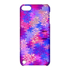 Pink And Purple Marble Waves Apple Ipod Touch 5 Hardshell Case With Stand
