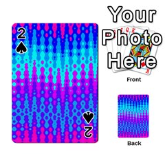 Melting Blues and Pinks Playing Cards 54 Designs