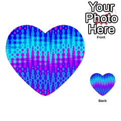 Melting Blues And Pinks Multi Purpose Cards (heart)