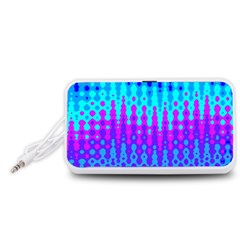 Melting Blues And Pinks Portable Speaker (white)