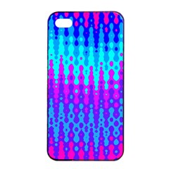 Melting Blues And Pinks Apple Iphone 4/4s Seamless Case (black)
