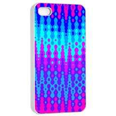 Melting Blues And Pinks Apple Iphone 4/4s Seamless Case (white)
