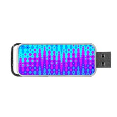 Melting Blues and Pinks Portable USB Flash (Two Sides)