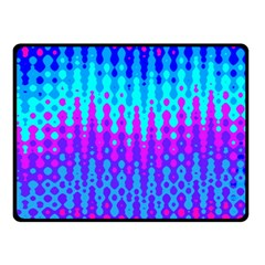 Melting Blues and Pinks Double Sided Fleece Blanket (Small)