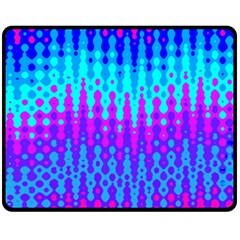 Melting Blues and Pinks Double Sided Fleece Blanket (Medium)