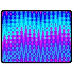 Melting Blues and Pinks Double Sided Fleece Blanket (Large)