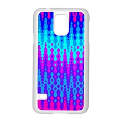 Melting Blues and Pinks Samsung Galaxy S5 Case (White)