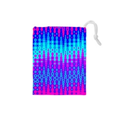 Melting Blues And Pinks Drawstring Pouches (small)