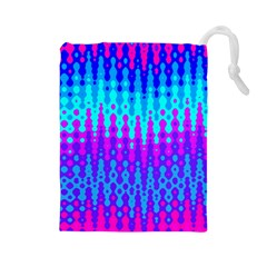 Melting Blues and Pinks Drawstring Pouches (Large)