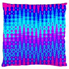 Melting Blues And Pinks Large Flano Cushion Cases (one Side)