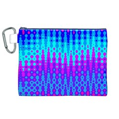 Melting Blues And Pinks Canvas Cosmetic Bag (xl)