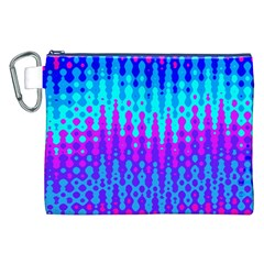 Melting Blues and Pinks Canvas Cosmetic Bag (XXL)