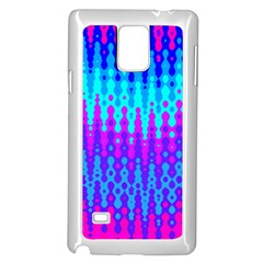 Melting Blues and Pinks Samsung Galaxy Note 4 Case (White)
