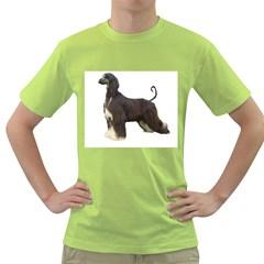 Afghan Hound Full Green T-Shirt