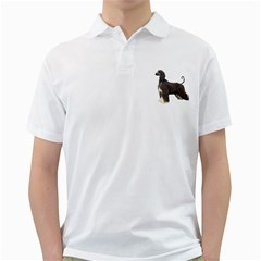 Afghan Hound Full Golf Shirts