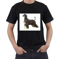 Afghan Hound Full Men s T-Shirt (Black) (Two Sided)