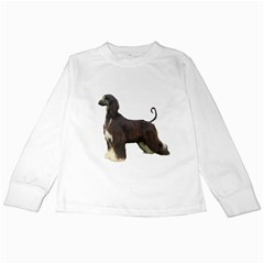 Afghan Hound Full Kids Long Sleeve T-Shirts