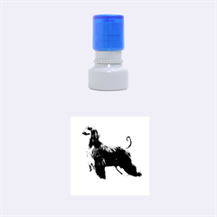 Afghan Hound Full Rubber Round Stamps (Small)