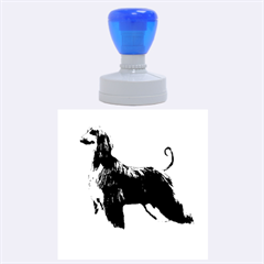 Afghan Hound Full Rubber Round Stamps (Large)