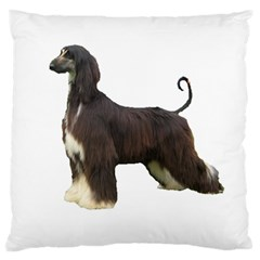 Afghan Hound Full Standard Flano Cushion Cases (One Side)