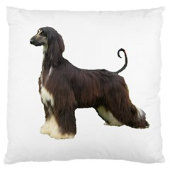 Afghan Hound Full Large Flano Cushion Cases (One Side)