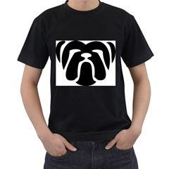 Bulldog Tribal Men s T-Shirt (Black) (Two Sided)