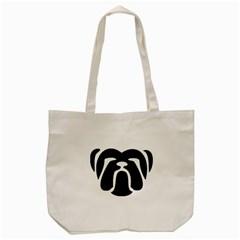 Bulldog Tribal Tote Bag (Cream)