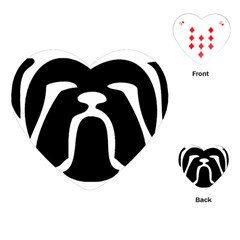 Bulldog Tribal Playing Cards (heart)