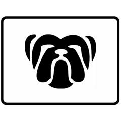 Bulldog Tribal Fleece Blanket (large)