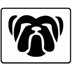 Bulldog Tribal Fleece Blanket (Medium)
