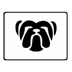 Bulldog Tribal Fleece Blanket (Small)