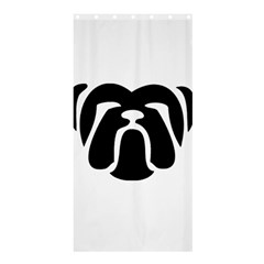 Bulldog Tribal Shower Curtain 36  x 72  (Stall)