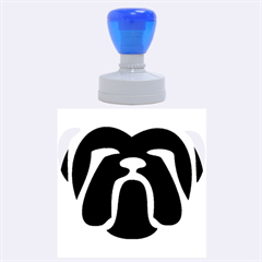 Bulldog Tribal Rubber Round Stamps (Large)