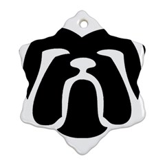 Bulldog Tribal Snowflake Ornament (2 Side)