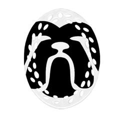Bulldog Tribal Ornament (Oval Filigree)