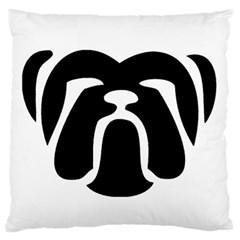 Bulldog Tribal Standard Flano Cushion Cases (One Side)