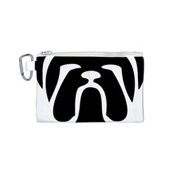 Bulldog Tribal Canvas Cosmetic Bag (S)
