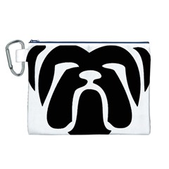 Bulldog Tribal Canvas Cosmetic Bag (L)