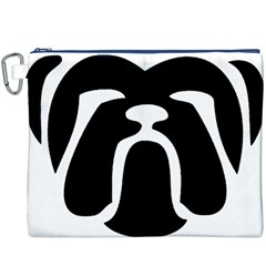 Bulldog Tribal Canvas Cosmetic Bag (XXXL)