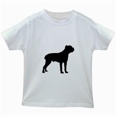 Cane Corso Silo Black Kids White T-Shirts