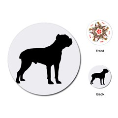Cane Corso Silo Black Playing Cards (round)