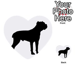 Cane Corso Silo Black Multi-purpose Cards (Heart)