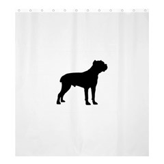 Cane Corso Silo Black Shower Curtain 66  x 72  (Large)