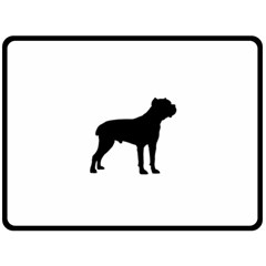 Cane Corso Silo Black Fleece Blanket (Large)