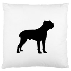 Cane Corso Silo Black Standard Flano Cushion Cases (Two Sides)