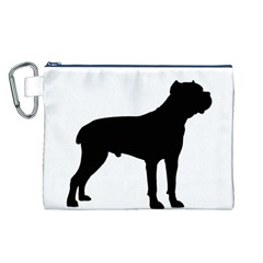 Cane Corso Silo Black Canvas Cosmetic Bag (L)