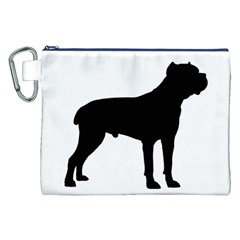 Cane Corso Silo Black Canvas Cosmetic Bag (XXL)