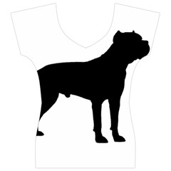 Cane Corso Silo Black Women s V-Neck Cap Sleeve Top
