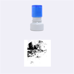 Cav Sitting Rubber Round Stamps (Small)