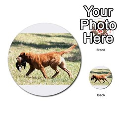Chesapeake Bay Retriever Retrieving Multi-purpose Cards (Round)